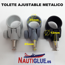 TOLETE AJUSTABLE METALICO